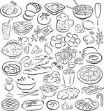 Vector illustration of food collection