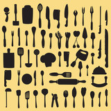 Vector illustration of cooking utensil set