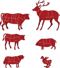 Diagram Guide for Cutting Meat