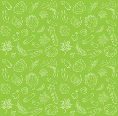 vector pattern of seamless background with vegetables