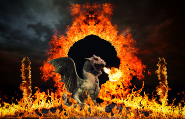 Dragon at hell's gates