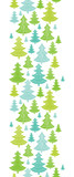 Vector holiday Christmas trees vertical seamless pattern