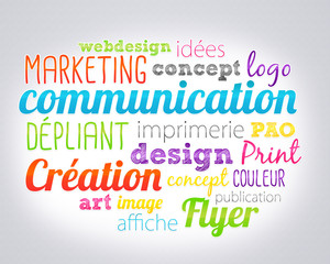 nuage de mots : marketing et communication