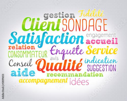 nuage de mots : satisfaction client