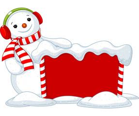 Christmas board and Snowmen