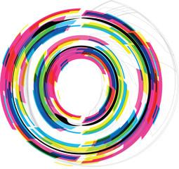 Font Illustration. LETTER O. Vector illustration