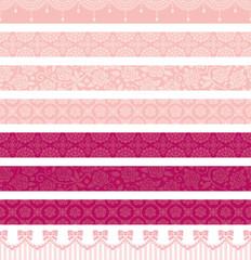 ピンク 可愛い 広告 ライン バナー