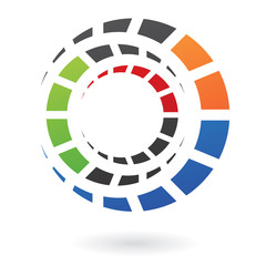 Colorful Cogs Abstract Icon