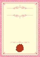 pink vintage vector frame