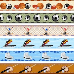 Seamless sports patterns