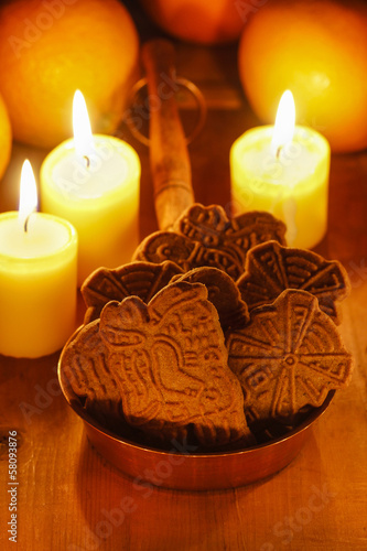 Speculaas is a type of spiced shortcrust biscuit, traditionally