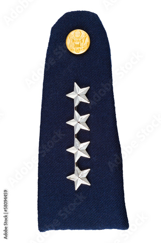 Military shoulder board of the four-star General