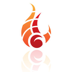 Fire Shaped Abstract Icon