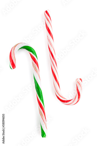Traditional christmas candy canes