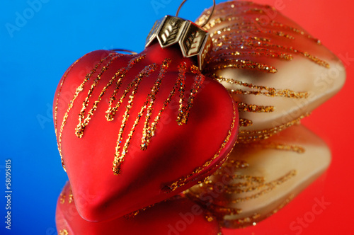 Hearts Christmas ornament