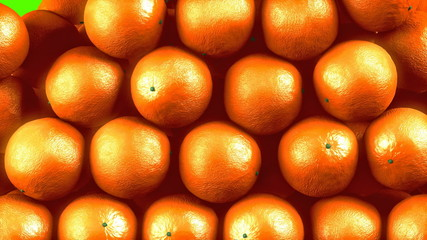 Oranges transition effect