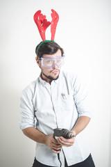 bricolage christmas stylish young man