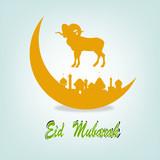 Festival of sacrifice Eid Al Azha or Eid Al Adha.Vector poster