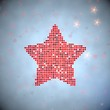 3d render of a soft star symbol of thousand hearts