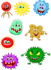 Virus cartoon collection set