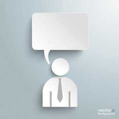 Paper Human Speech Bubble