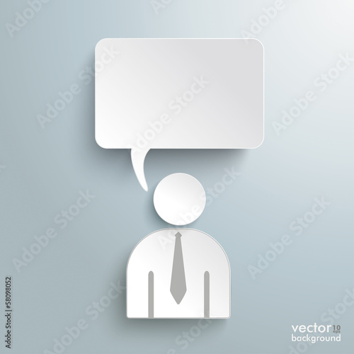 Paper Human Speech Bubble