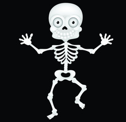 Funny skeleton cartoon