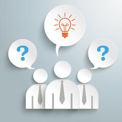 Three Paper Humans Questions Idea PiAd
