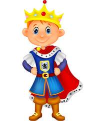 Cute boy with king costume