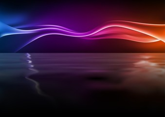 Abstract Glowing Waves