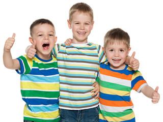 Three joyful boys