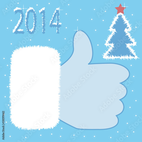 Santa Claus like icon card, vector
