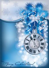 Elegant New Years banner, vector illustration