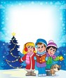 Постер, плакат: Christmas carol singers theme 4