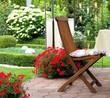 canvas print picture - Entspannen im eigenen Garten