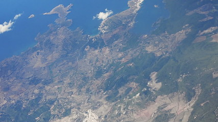 Menorca countryside aerial shot
