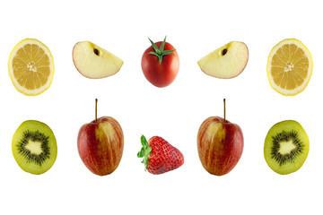 Limone, Kiwi, Mela, Fragola e Pomodoro