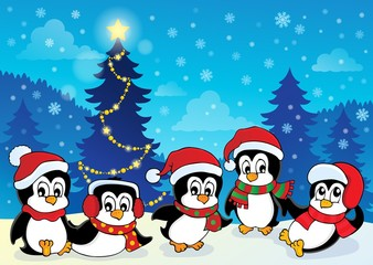 Winter theme with penguins 4