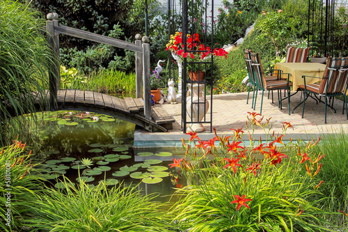 canvas print picture Gartenparadies