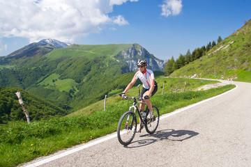 Mann, Mountainbike, Fahrrad, Monte Baldo, Gardasee