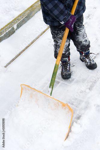 canvas print picture to shovel snow