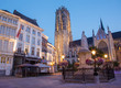 Mechelen - St. Rumbold's cathedral in dusk