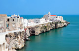 Panoramic view of Vieste. Puglia.Gargano. Italy.
