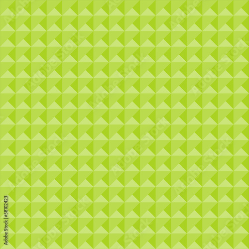 Seamless geometric pattern in shades of green