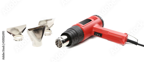 Hot air gun with tips.
