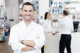 cheerful smiling pharmacist