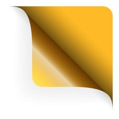 Papier - Ecke oben gerundet gelb
