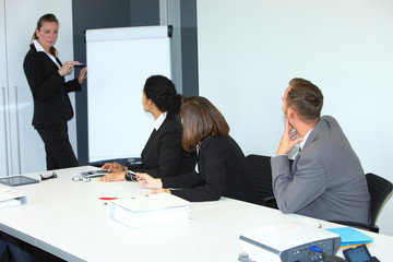 Businessswoman giving a presentation