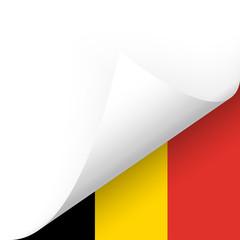 Papier - Ecke unten - Länderflagge Belgien