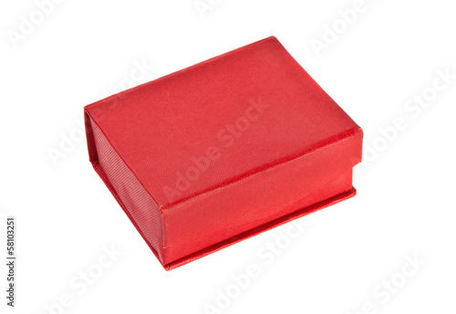 Closed red box on a white background